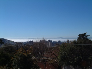 Mist over Table Bay