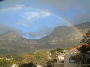 Rainbow over Table Mountain