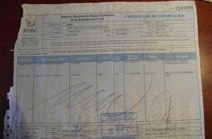 Cuban Customs Form