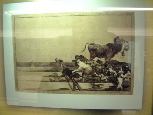 Goya - Bullfighting scene