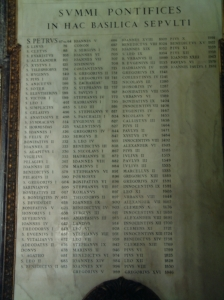 List of Popes - Vatican Tablet