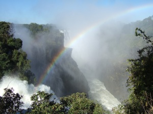 Solar Rainbow over Vic Falls