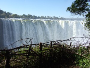 Face of Vic Falls from Zimbabwe