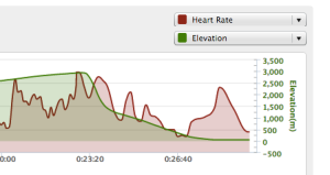 Catherina Skydive Heart rate-Elevation Graphic