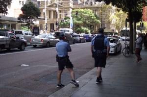 Cops wearing Shorts NSW
