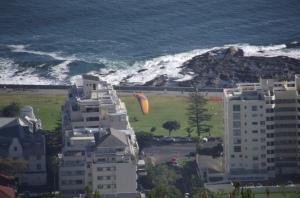 Paraglider lands
