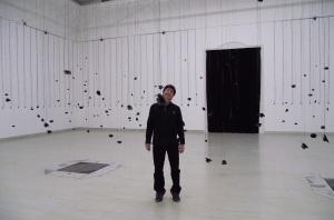 Alex at sound art Exhibition Budapest