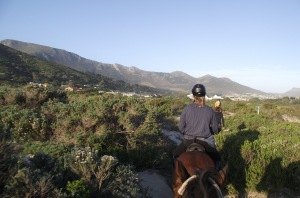 Noordhoek on horseback before the fires