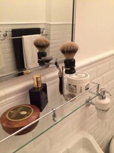 New bathroom shaving