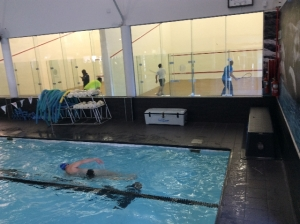 Squash - this is where I should be not swimming 1