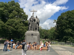 Statue of Cyril and Methodius - Moscow
